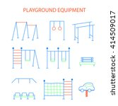 vector linear children's... | Shutterstock .eps vector #414509017
