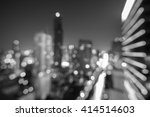 blure modern building at night. ... | Shutterstock . vector #414514603