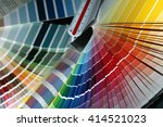 close up of color guide spread... | Shutterstock . vector #414521023