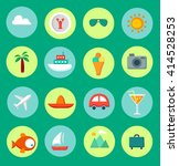 set of flat icons of traveling  ... | Shutterstock .eps vector #414528253