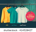 mock up clothes for your design.... | Shutterstock .eps vector #414528427