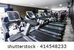 modern gym interior with... | Shutterstock . vector #414548233