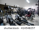 modern gym interior with... | Shutterstock . vector #414548257