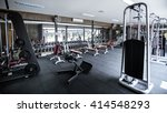 modern gym interior with... | Shutterstock . vector #414548293