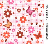 childish seamless pattern with...   Shutterstock .eps vector #414555733