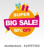 super  big sale banner. vector... | Shutterstock .eps vector #414557353