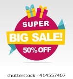 super big sale banner. vector... | Shutterstock .eps vector #414557407