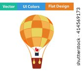 flat design icon of hot air...