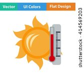 flat design icon of sun and...
