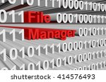 file manager in the form of...
