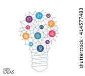 ideas for techology. tools and... | Shutterstock .eps vector #414577483