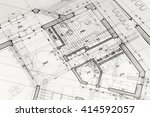 architecture blueprints   house ... | Shutterstock . vector #414592057