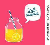 bright summer vector background ... | Shutterstock .eps vector #414592903