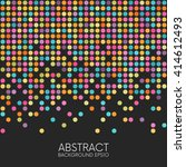Abstract Colorful Dotted...