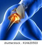 3d render of a blue medical... | Shutterstock . vector #414620503