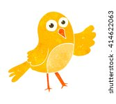 freehand retro cartoon bird | Shutterstock .eps vector #414622063