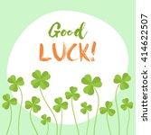 good luck flat vector card....   Shutterstock .eps vector #414622507