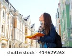 travel. young woman traveler...   Shutterstock . vector #414629263