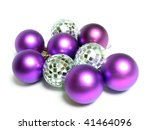 violet christmas spheres and...   Shutterstock . vector #41464096