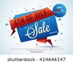 4th of july sale  sale tag ... | Shutterstock .eps vector #414646147
