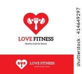love fitness logo. food logo.... | Shutterstock .eps vector #414649297