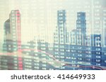 modern city buildings with a... | Shutterstock . vector #414649933