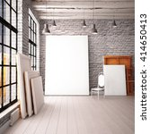 interior with a window in the... | Shutterstock . vector #414650413