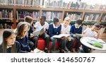 classmate educate friend... | Shutterstock . vector #414650767