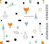 scandinavian geometric seamless ... | Shutterstock .eps vector #414662353