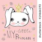 cute  little princess rabbit... | Shutterstock .eps vector #414666193