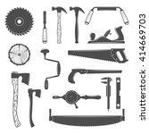 set of monochrome vector... | Shutterstock .eps vector #414669703