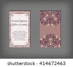 set of business card template ...   Shutterstock .eps vector #414672463