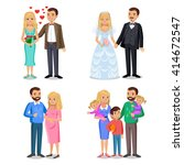 happy family stages. creating... | Shutterstock . vector #414672547
