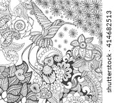 bird of paradise in fantasy... | Shutterstock .eps vector #414682513