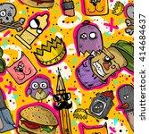 graffiti seamless texture. ... | Shutterstock .eps vector #414684637
