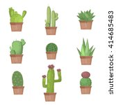 cactus collection vector... | Shutterstock .eps vector #414685483