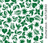 dark green foliage seamless... | Shutterstock .eps vector #414718543