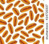 appetizing hot dog sandwiches... | Shutterstock .eps vector #414720337
