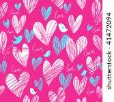 bright romantic seamless pattern   Shutterstock .eps vector #41472094