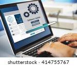 software update installation... | Shutterstock . vector #414755767