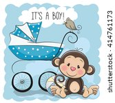greeting card its a boy with... | Shutterstock .eps vector #414761173