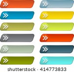 simple web buttons vector pack