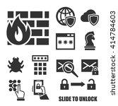 firewall icon set | Shutterstock .eps vector #414784603