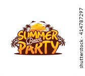summer beach party vector | Shutterstock .eps vector #414787297