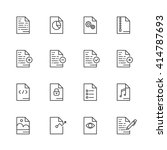 outline icon set of  document... | Shutterstock .eps vector #414787693