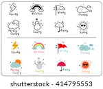 Cute Weather Icons  Outline An...