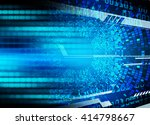blue abstract hi speed internet ... | Shutterstock . vector #414798667