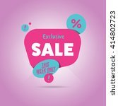 special offer sale tag discount ... | Shutterstock .eps vector #414802723