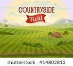 countryside landscape vector... | Shutterstock .eps vector #414802813
