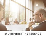 businessmen talking... | Shutterstock . vector #414806473